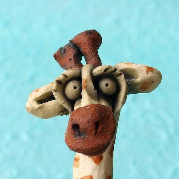 Giraffe Ceramic Animal Sculpture