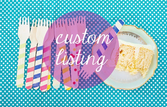 6 Mini Scoops and 12 Ice Cream Spoons - With Black Chevron - Custom Listing For Emma
