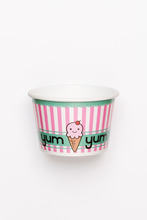Yum Yum Ice Cream Cups  -  10 Yum Yum cups - Amigurumi