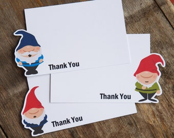 Gnome Garden Party - Set of 8 Gnome Thank You Notecards by The Birthday House