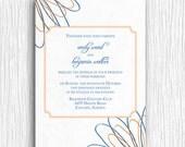 Wedding Invite - Blue and Orange Printable