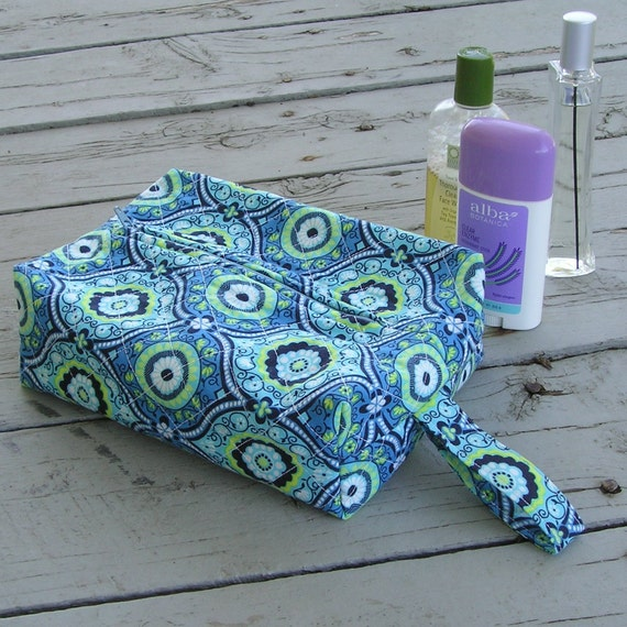 Quilted Toiletry Bag Great for Travel or Gifts - Amy Butler Lark Dreamer