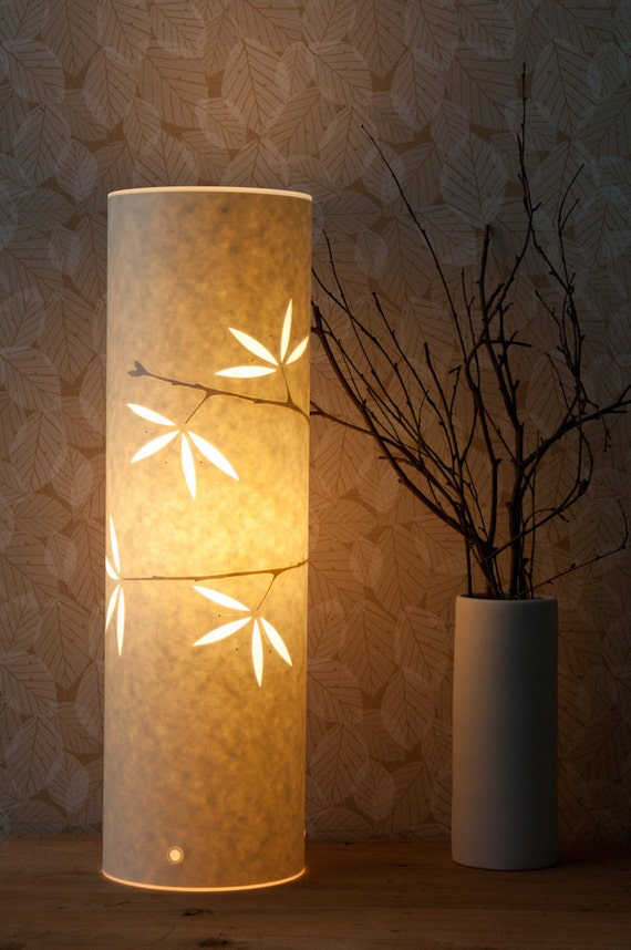 Tall Spring Blossom Table Lamp