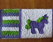 Pony  baby quilt