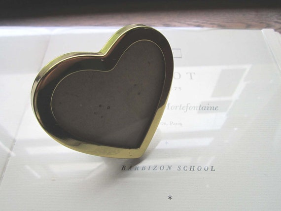 Small Brass Heart Frame