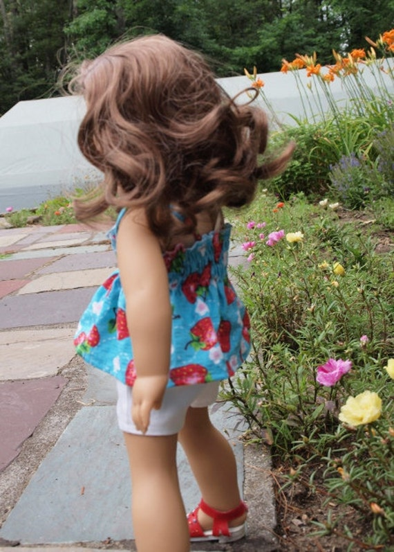"""American Girl Doll Clothes  - 18"""" Doll Clothes - Shorts Outfit - Summer"""