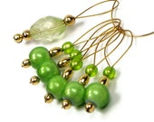 Knitting Stitch Markers Beaded Lime Greeen Limeade Knitting Tool Knitting Accessory