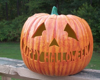 Large Personalized JACK-O-LANTERN Pumpkin Lamp Light