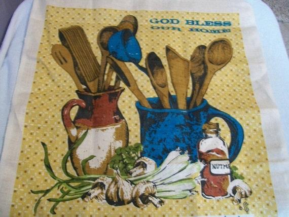 Vintage Calendar,  Tea Towel,  1981 Linen Towel