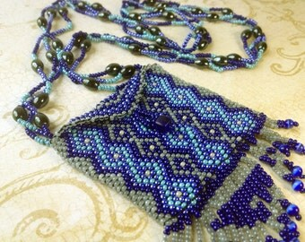 GORGEOUS Navajo Style Beaded Amulet Bag / Pouch