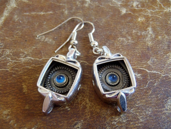Steampunk Earrings - Bejeweled  - Steampunk - Repurposed art