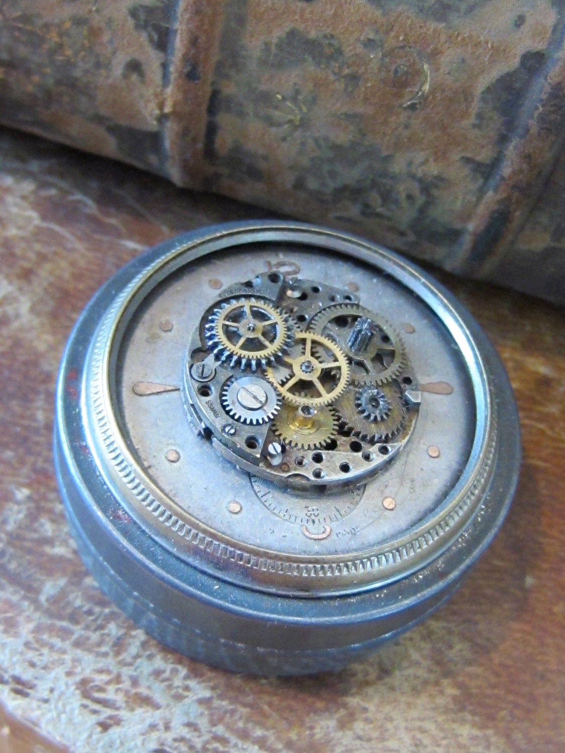 Steampunk Time Capsule Vintage Tin