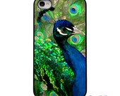On Sale!Green Blue Peacock Feather Black or White iPhone Case - IPhone 4, 4S, 5, 5S, 5C Hard Cover - Trendy iPhone Case Cover - artstudio54