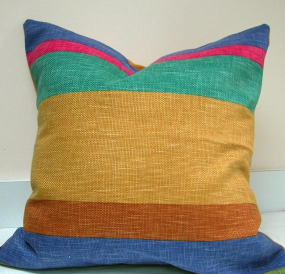Rustic Stripe Home Decor 22 x 22 pillow case