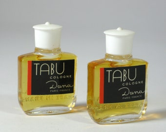 Tabu Cologne Dana Paris France Vintage Tabu