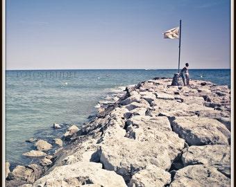 """Sitges, Spain Photograph. Beach Body. Mediterranean Sea. 5"""" x 5"""" Photo"""