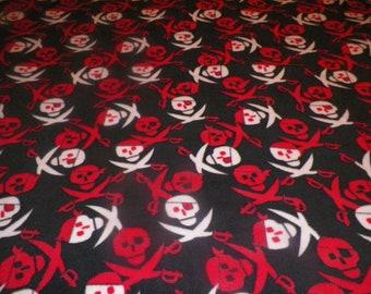Pirate Skull Fleece Throw Blanket
