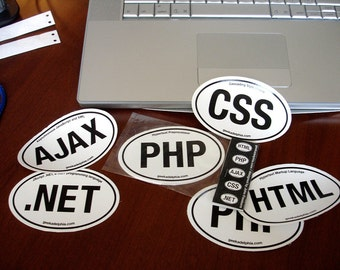 Code Stickers: html, php, css, .net, ajax