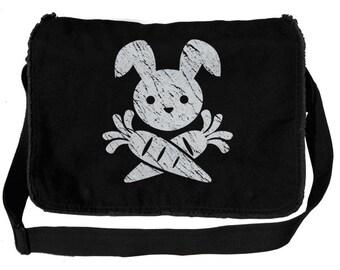 Pirate Bunny Jolly Roger Messenger Bag