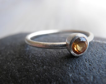 Citrine November birthstone Ring, Classic yellow Ring, Sterling Silver Ring, Statement Ring, Nostalgic Gift, Bridal Jewelry