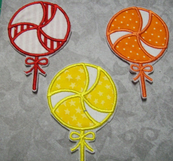 Iron On Applique -  Lollipop Candies 75656LC