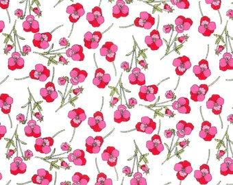 Liberty Tana Lawn Fabric Ros B Pink Red Fabric Fat Quarter