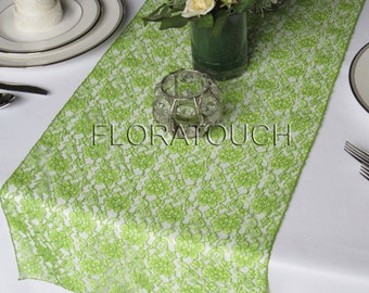 Light Green Lace Wedding Table Runner