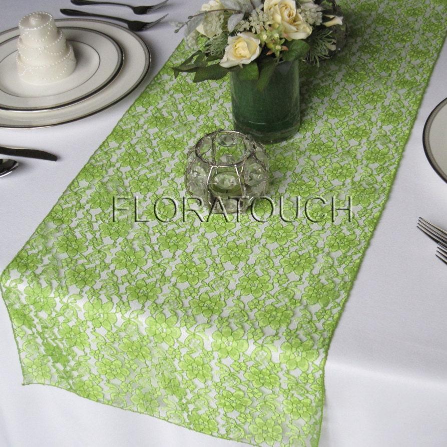 lace wedding table runner light green wedding table runners Light Green Lace Wedding Table Runner zoom