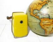 Vintage Pencil Sharpener Bostonette Yellow Metal School Plastic PeachyChicBoutique on Etsy