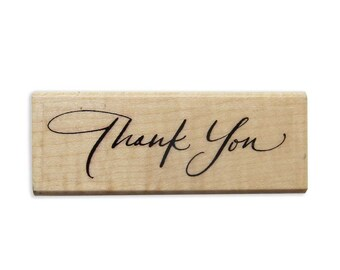 Thank You -  calligraphy stamp