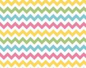 WINTER SALE - Small Chevron Stripe in Girl - sku C340 03 - 1 Yard - by Riley Blake Designs