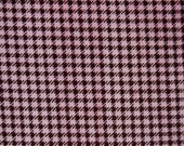 WINTER SALE - Houndstooth in Brown/Hot Pink - 1 yard - Minky - from Shannon Fabrics