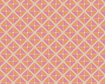SUMMER SALE - 1 7/8 Yard - Notting Hill - Frames in Tangerine - Joel Dewberry for Free Spirit - sku PWJD059-Tangerine