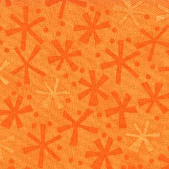 SALE - Ten Little Things - Twinks in Orange - SKU 30505 32  - by Jenn Ski for Moda Fabrics - 1 Yard