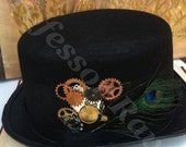 Handcrafted Steampunk Top Hat
