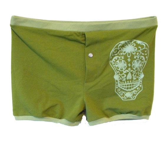Day of the Dead Green Boxer Shorts