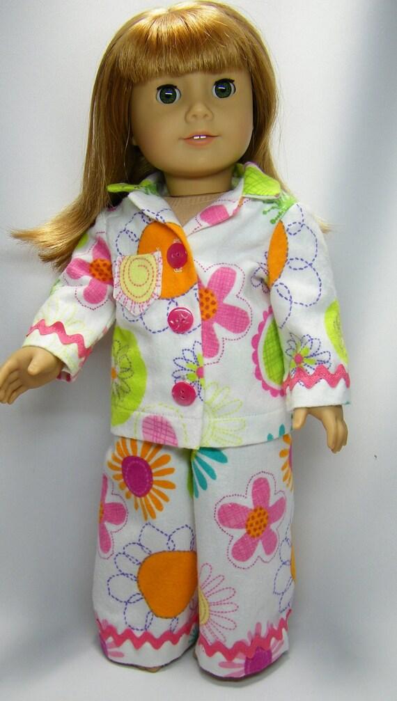 Fun, flowery pajamas for American girl doll