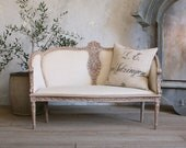 RESERVED for Michele - Amazing Vintage Settee Sofa with Beautiful Carved Details