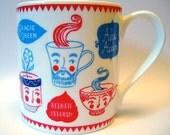 Bone China Personaliteas Design Mug for ToDryFor by Moira Millman