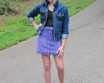 Tween to Teen Skirt  Knitting Pattern  from Ages 7 to Teen Sizes