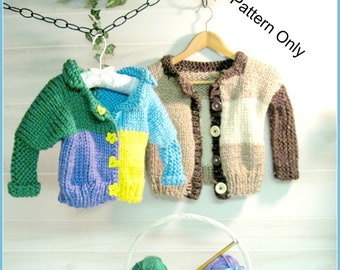 Child's Cardigan Knitting Pattern  Child 3 to 8 years old