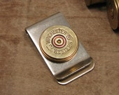 Shotgun Casing Jewelry - Old Winchester Western 12 Gauge Money Clip - Great Gift for Man or Groomsmen Gifts