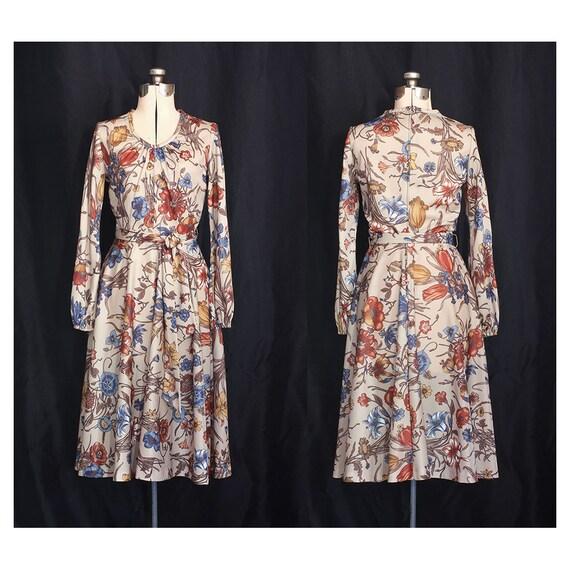 Ginger Botanical Wonderland 70s Dress