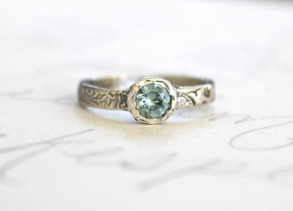 sapphire engagement ring conflict free green sapphire ring