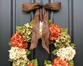 Fall Hydrangea Wreaths, Front Door Wreaths, Wreaths for Front Door, Hydrangea Wreaths, Autumn Blessings