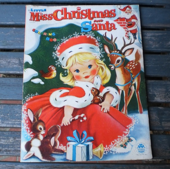 Miss Christmas Santa Childrens Coloring Book By