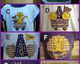 Create Your Own Personalized Onesie for LSU or YOUR Team