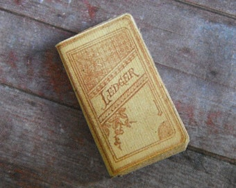 Miniature Book --- Antique Ledger