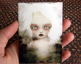 Mania Lesser Known Goddess ACEO/ATC Artists Trading Card Mini Print Premium Fine Art 2.5x3.5
