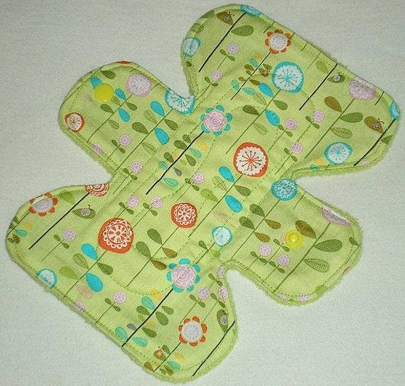Happier Garden - Green - 7 inch Cloth Pad 3L - Cotton Top